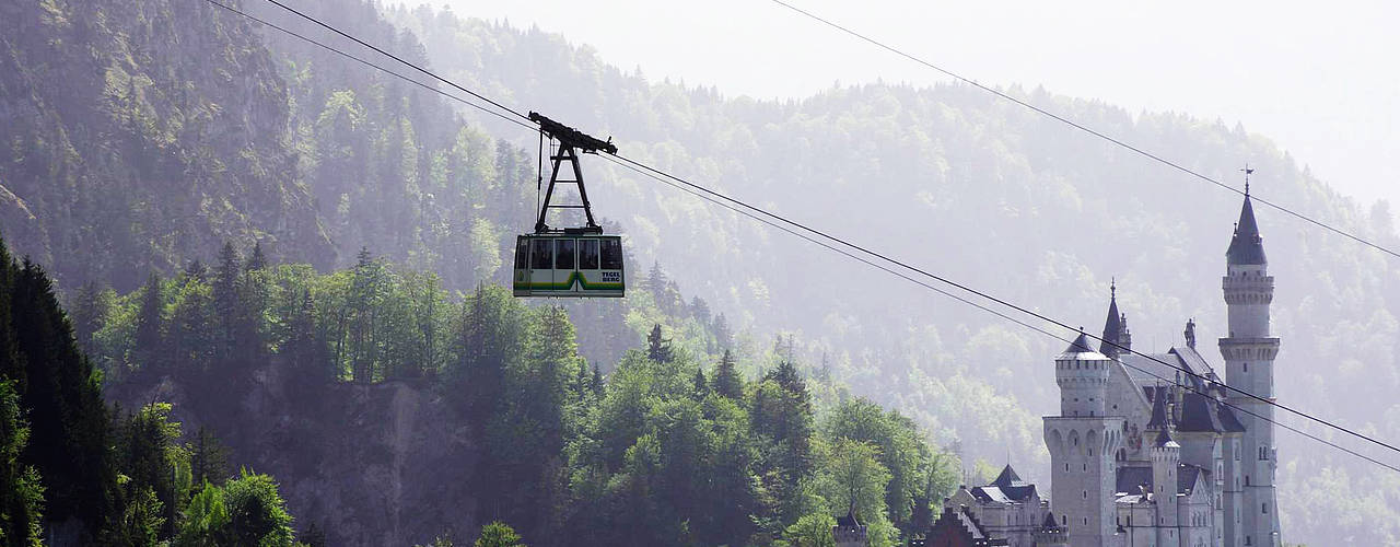 The Tegelberg cable car offers breathtaking views