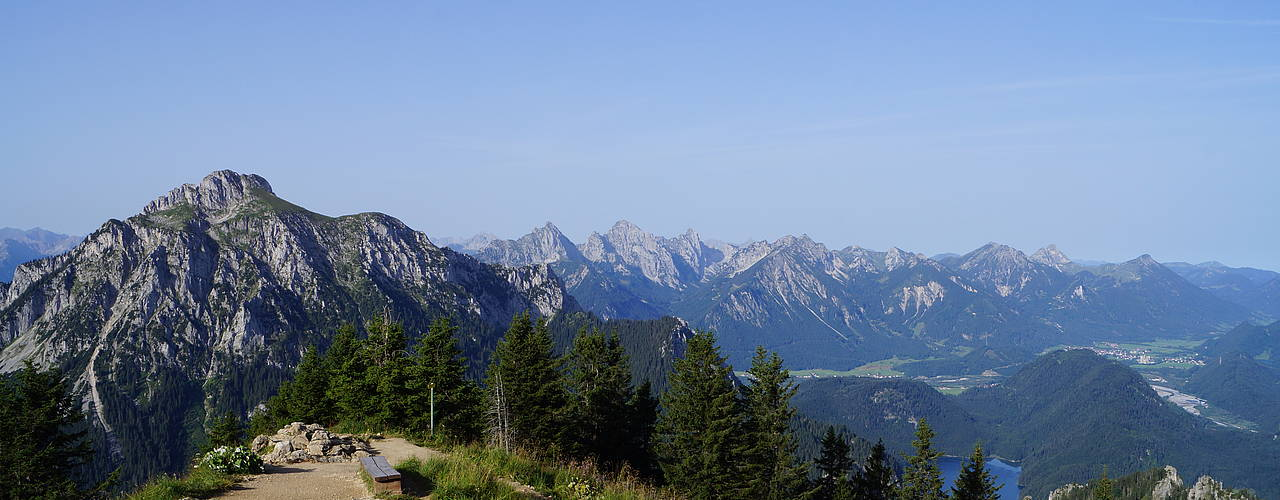 View from the Branderschrofen summit