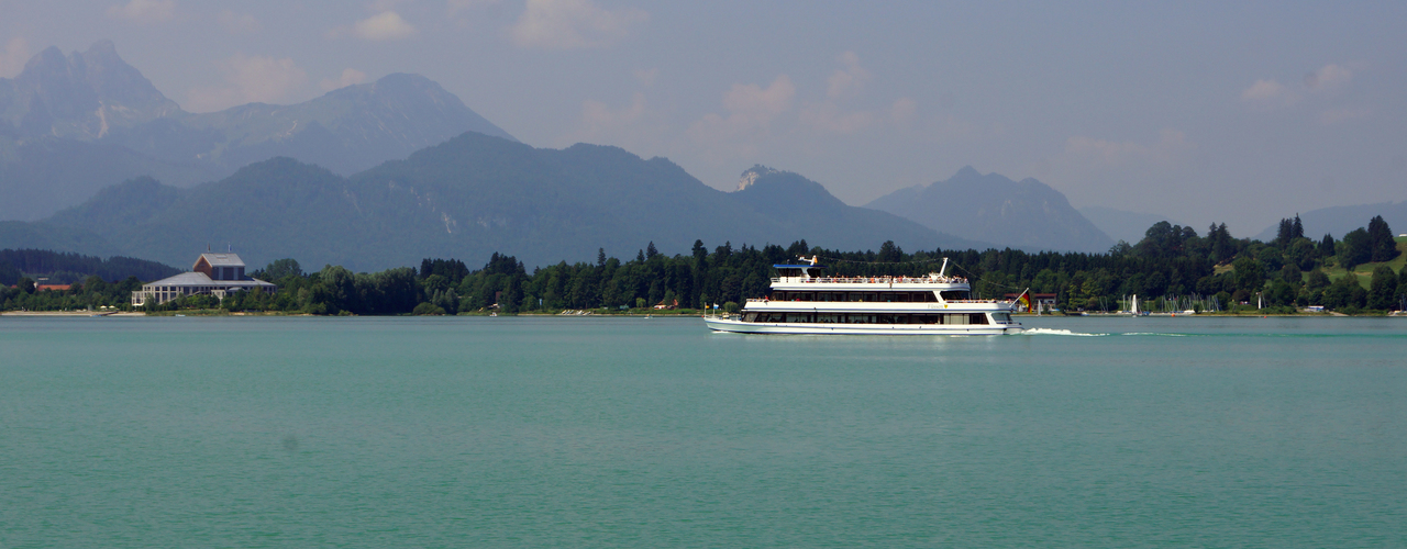 Lake Forgensee and the Musical Theater Neuschwanstein in the background