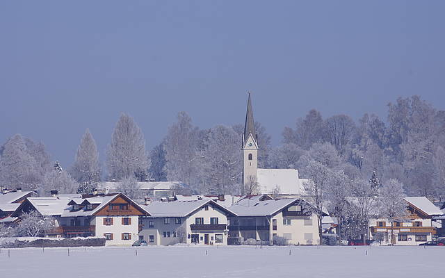 Schwangau's church St. Georg in the winter