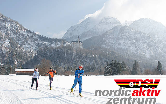 Cross-county skiing in Schwangau