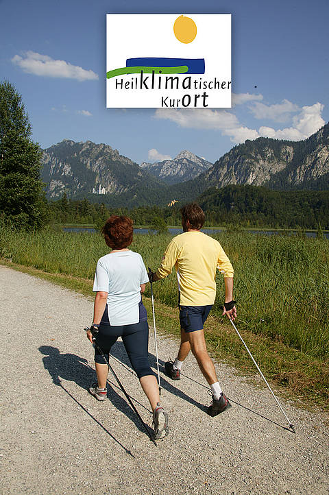 Nordic Walking in the climatic health resort of Schwangau