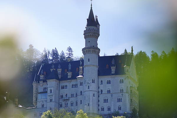 The palais - the main building of the Neuschwanstein Castle in Schwangau - Bavaria