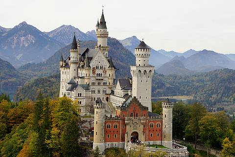 Neuschwanstein Castle in Schwangau, Bavaria