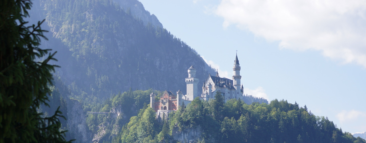 Neuschwanstein castle in the spring