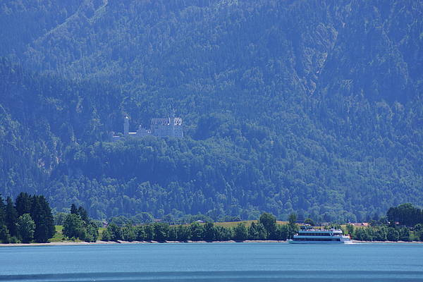 Lake Forggensee with Neuschwanstein castle in the background