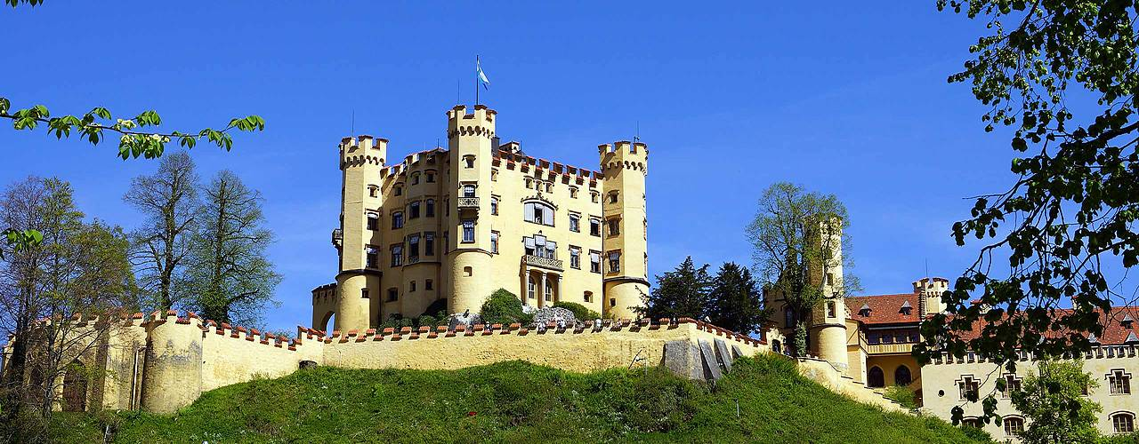 Hohenschwangau castle in the springtime